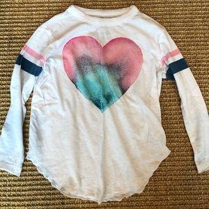 Girls heart graphic long sleeve t-shirt